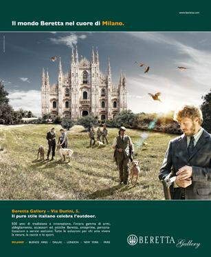 campagna multisoggetto Beretta Gallery