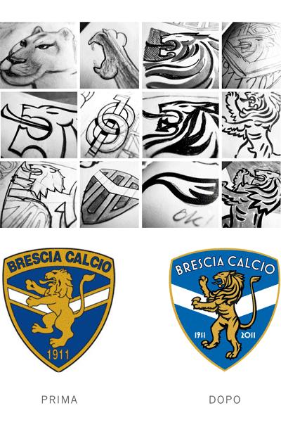 Restyling logo Brescia calcio
